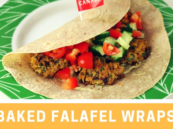 Baked Falafel Wraps Recipe