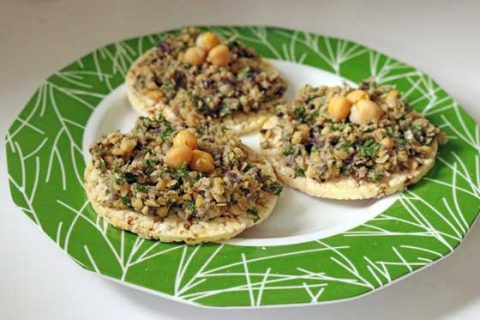 Chickpea sage crostini recipe (chickpea bruschetta)